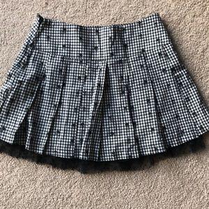 Plaid skull skirt